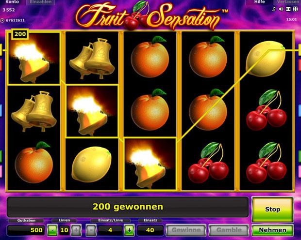 Fruit Sensation Online Spielen