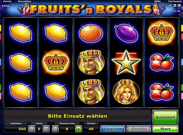 Fruits and Royals Online Spielen