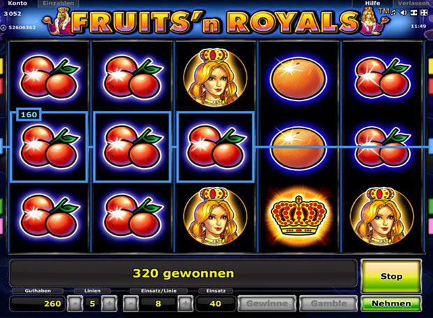 Fruits and Royals Spielen