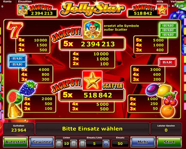 jolly star spielen