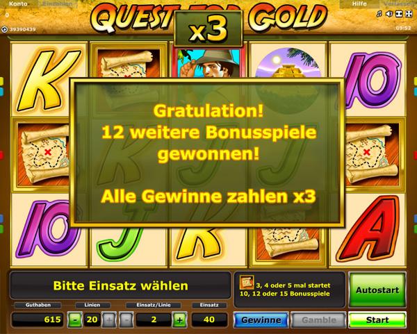 Quest for Gold Bonus